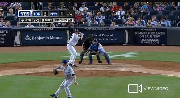 Brian McCann blasts a 2-run homer in the bottom of the 4th off Mark Burhle.