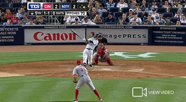 Jacoby Ellsbury 2-Run Homer vs Cincinnati Reds