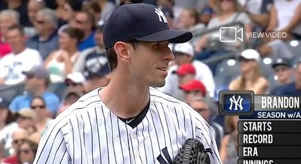 Brandon McCarthy takes the mound July 19, 2014 at Yankee Stadium