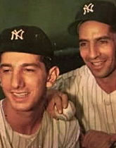Phil Rizzuto pictured with Billy Martin