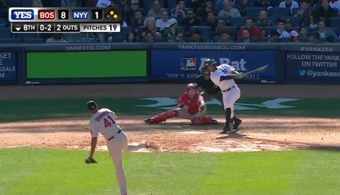 Yankees' Chris Young smacks 3-run homer vs Boston on April 11, 2015