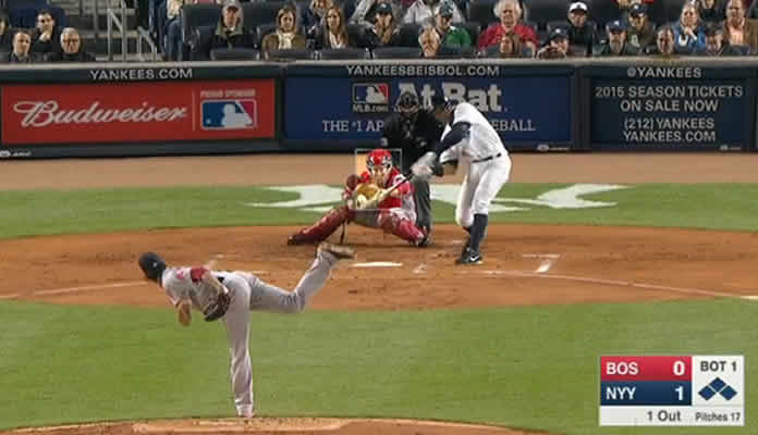 A-Rod's bases-clearing double vs Boston April 12, 2015