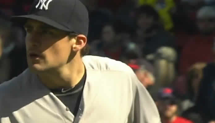 Nathan Eovaldi holds the Red Sox to two runs on seven hits over 6 2/3 innings, striking out two and walking one on May 2, 2015 at Fenway Park