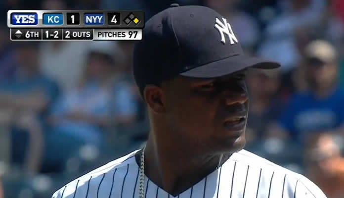 Michael Pineda strikes out 8 in 6.2 innings for his 6th win of 2015