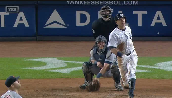 The New York Yankees smoked Detroit pitching for 5 home runs on June 20, 2015 en route to a 14-3 victory