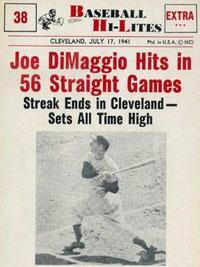 Joe DiMaggio's 56-game hitting streak ends in Cleveland