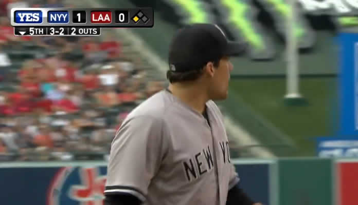 Nathan Eovaldi pitches 5 1/3 scoreless innings, allowing five hits and striking out three batters to earn the win vs. the Angels on July 1, 2015 in Anaheim, California