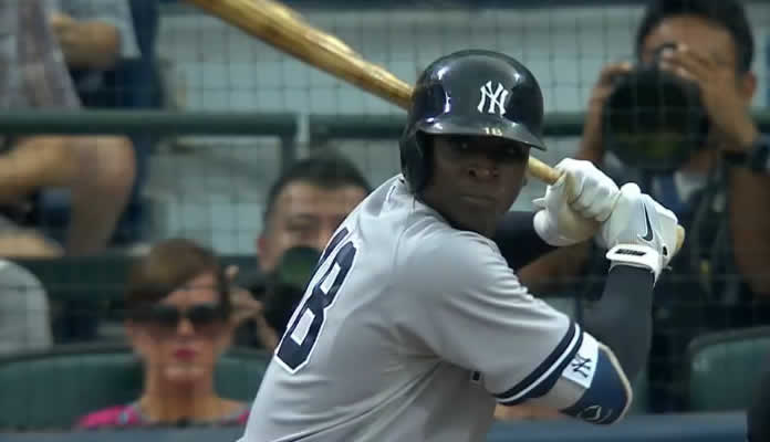 Didi Gregorius enjoys a monster night at the dish against the Braves, going 4-for-5 with a three-run homer and six RBI at Atlanta on August 28, 2015