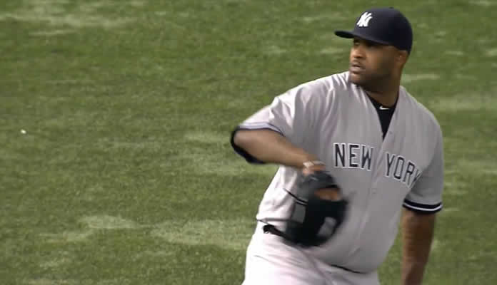 CC Sabathia puts together an impressive outing, allowing just three hits and striking out six over 6 2/3 shutout innings at Tropicana Field on September 14, 2015