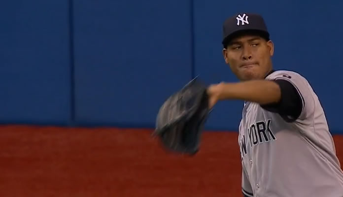 Ivan Nova strikes out six over 5 2/3 innings, allowing just one run on four hits and two walks at Rogers Centre on September 23, 2015