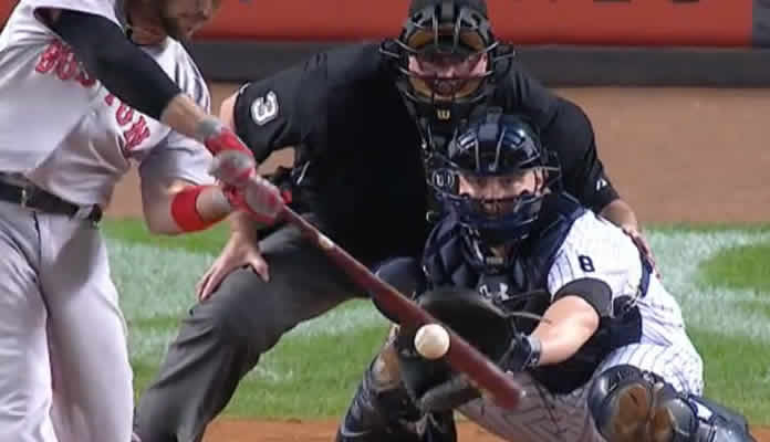 Travis Shaw gives the Red Sox an early lead, hammering a pitch deep into the seats in right field for a three-run homer at Yankee Stadium on September 30, 2015