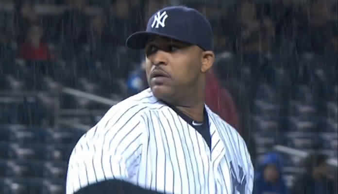 CC Sabathia goes five frames, allowing one run on six hits while fanning three, to earn the win as the Yanks clinch the Wild Card at Yankee Stadium on October 1, 2015