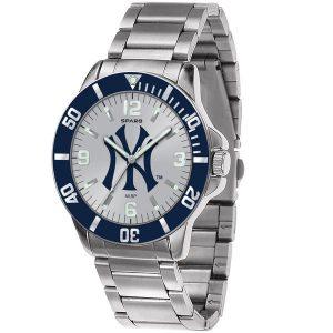 New York Yankees Men's Silver Watch