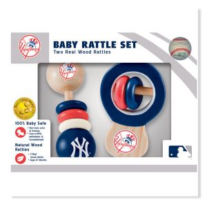 New York Yankees Infant 2-pack Baby Rattle Set