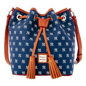 Dooney & Bourke New York Yankees Women's MLB Signature Kendall Crossbody Bucket Bag