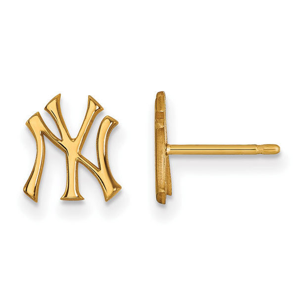 New York Yankees Women's Gold-Plated Small Post Earrings