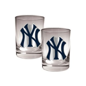 14oz Yankees Logo Drinking Glasses