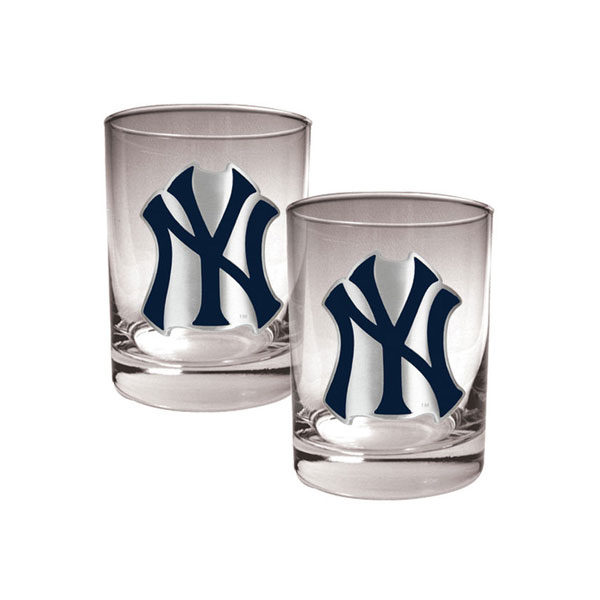 14oz Yankees Logo Drinking Glasses
