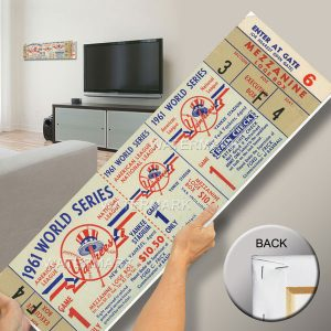 Large Wall Poster New York Yankees 1961 World Series Ticket