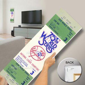 New York Yankees 1978 World Series Ticket Mega Poster