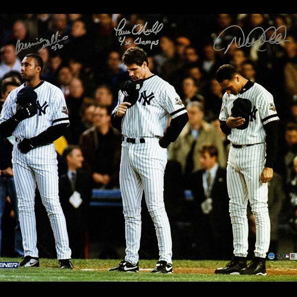 Yankees World Series 2001 Bernie Williams Paul O'Neill Derek Jeter signed photo