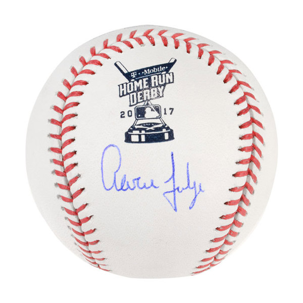 Authentic Aaron Judge 2017 Home Run Derby Autographed Baseball
