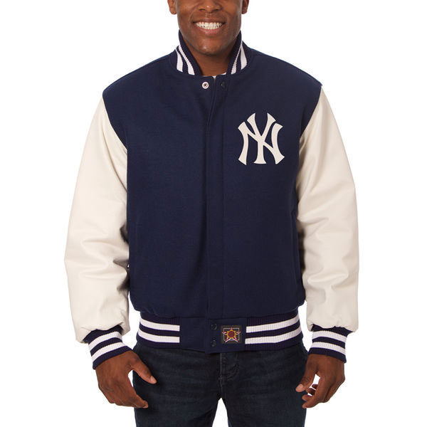 New York Yankees leather wool game jersey | Moiderer's Row