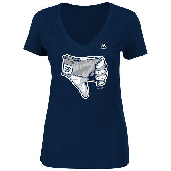 Women's New York Yankees Thumbs Down T-Shirt Moiderer's Row
