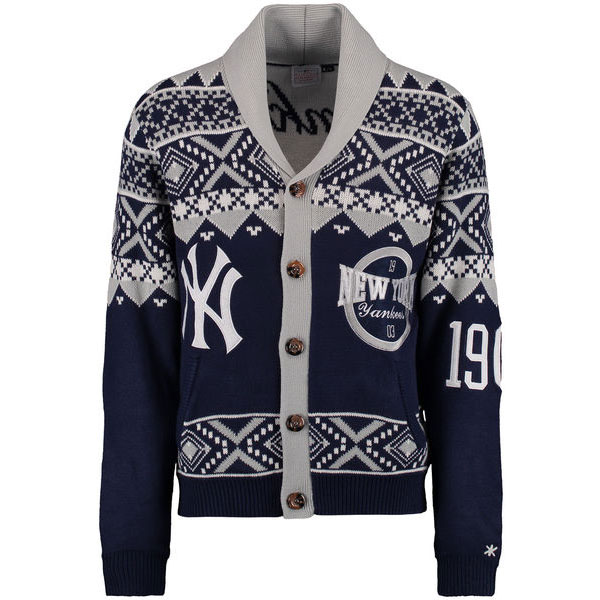 New York Yankees Ugly Cardigan Sweater Moiderer's Row Shop