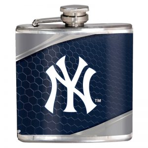 yankees 6oz hip flask