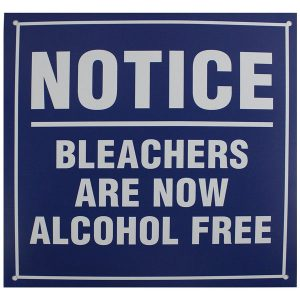 Yankee Fan Cave Essentials - Bleacher Alcohol Free Replica Sign