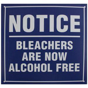 Yankee Fan Cave Essentials - Bleacher Alcohol Free Replica Sign
