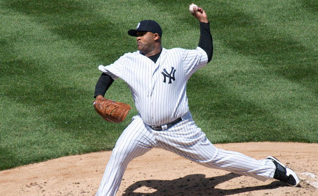 CC Sabathia in 2009 outing versus Cleveland Indians