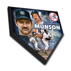 Thurman Munson Yankees Collectible Home Plate