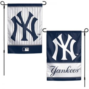yankees 12x18 double-sided garden lawn flag