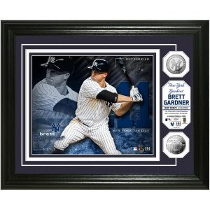 "Brett Gardner New York Yankees Highland Mint 13"" x 16"" Bronze Coin Photo"