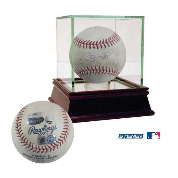 Gary Sanchez Signed Game Used Baseball