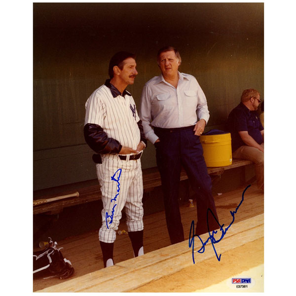George Steinbrenner and Billy Martin Dual Signed 8x10 Photo