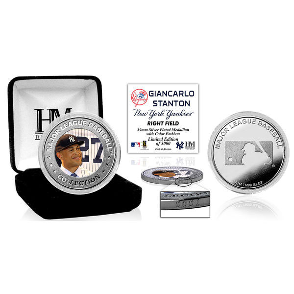 Giancarlo Stanton New York Yankees Highland Mint Silver Mint Color Coin