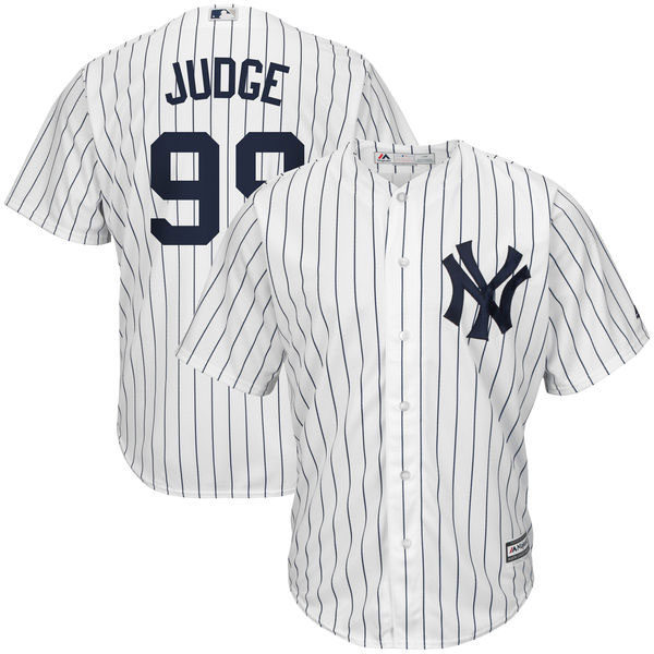 e0697702281 Majestic Aaron Judge New York Yankees White Navy Home Cool Base Player  Jersey