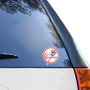 """New York Yankees 4"""" x 4"""" Color Perfect Cut Decal"""