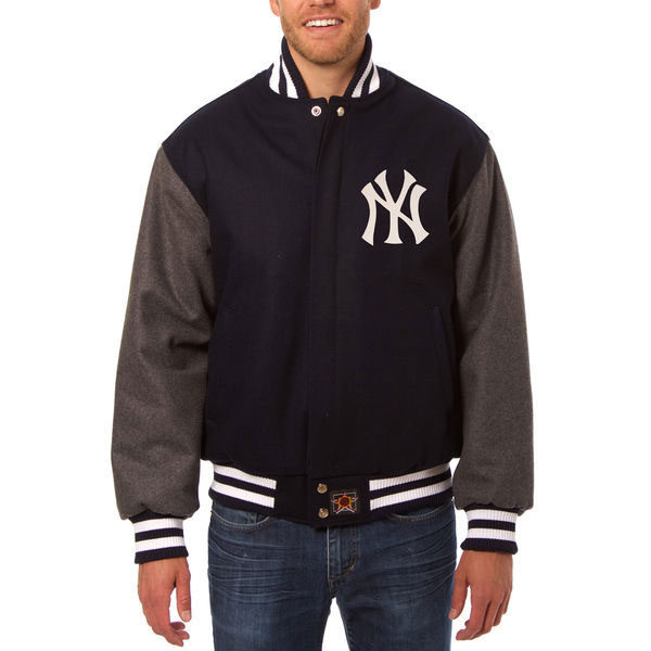 New York Yankees JH Design Two-Tone Wool Jacket