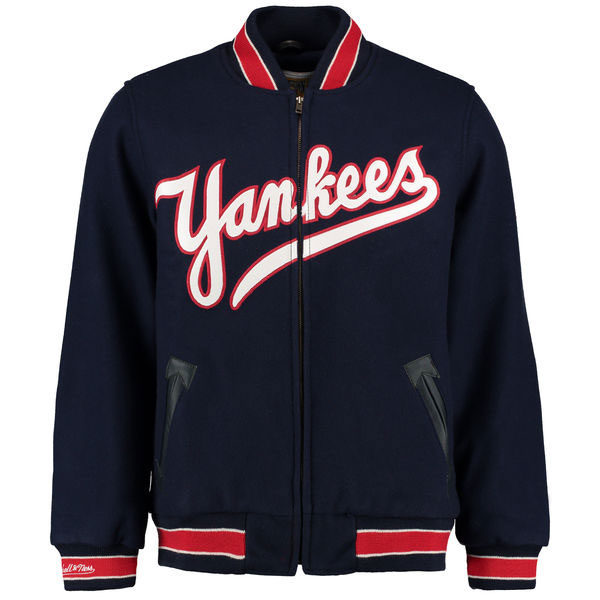 New York Yankees Mitchell & Ness Authentic Wool & Leather Jacket