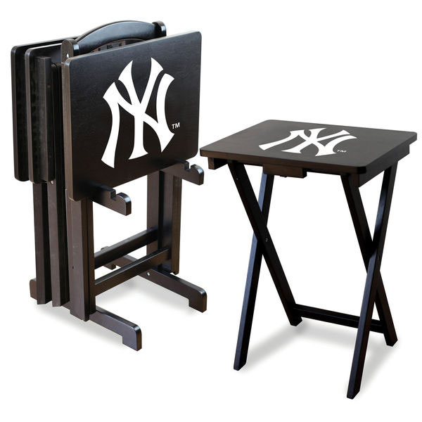 New York Yankees TV Trays with Stand