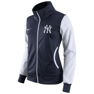 Nike New York Yankees Women's Navy/White Track Jacket » Moiderer's Row : Bronx Baseball