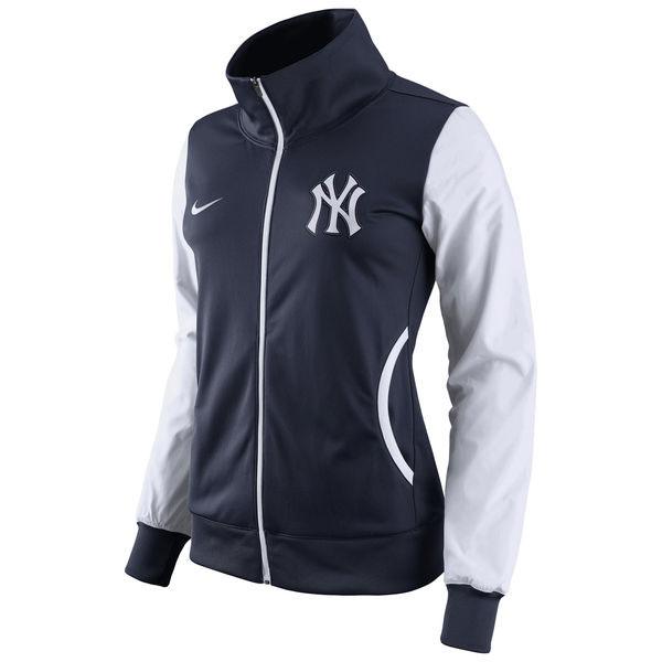Nike New York Yankees Women's Navy/White Track Jacket » Moiderer's Row : Bronx Baseball