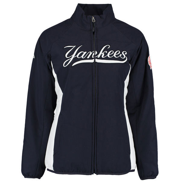 New York Yankees Majestic Women's Authentic Collection Double Climate Full-Zip Jacket