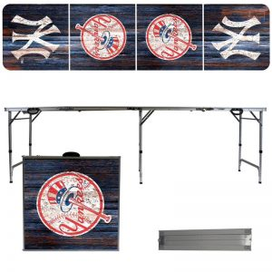 yankees foldable tailgate table