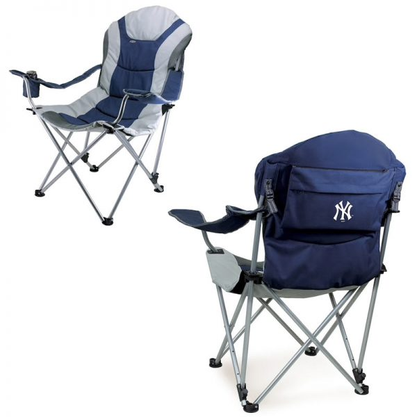 yankees reclining tailgate chair