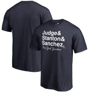 Aaron Judge, Giancarlo Stanton & Gary Sanchez New York Yankees Fanatics Branded Hometown Collection Trio T-Shirt